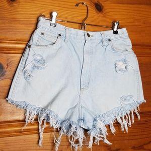 Vintage Congo Light Wash Distressed Shorts Size 30